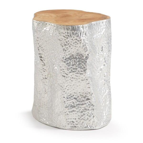 Hoko ezüstszínű tekfa tárolóasztal - La Forma