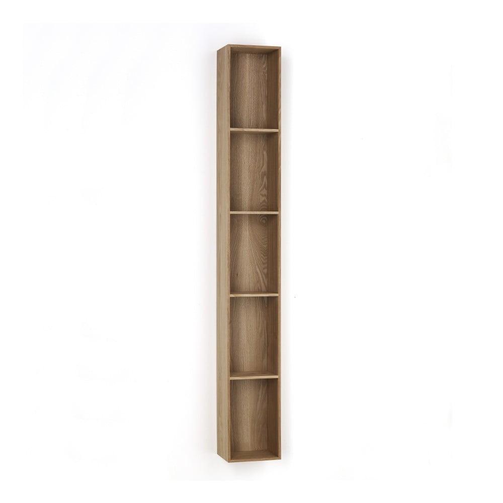 Dřevěná polička s 5 úložnými prostory Tomasucci Billa, 150 x 15 x 20 cm