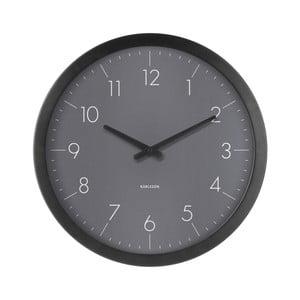 Tmavě šedé nástěnné hodiny z jedlového dřeva Karlsson Dainty