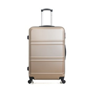 Béžově zlatý cestovní kufr na kolečkách Hero Utah, 97 l