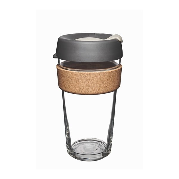 Cestovný hrnček s viečkom KeepCup Brew Cork Edition Press, 454 ml