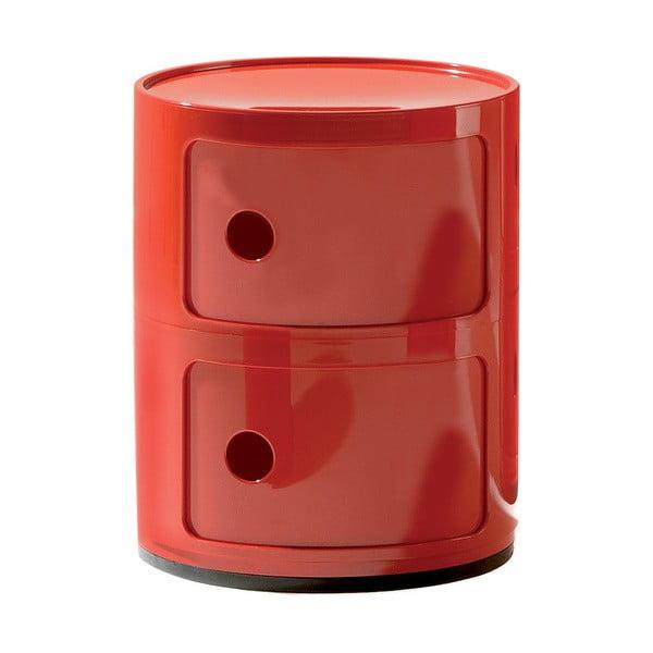 Červený kontejner se 2 zásuvkami Kartell Componibili