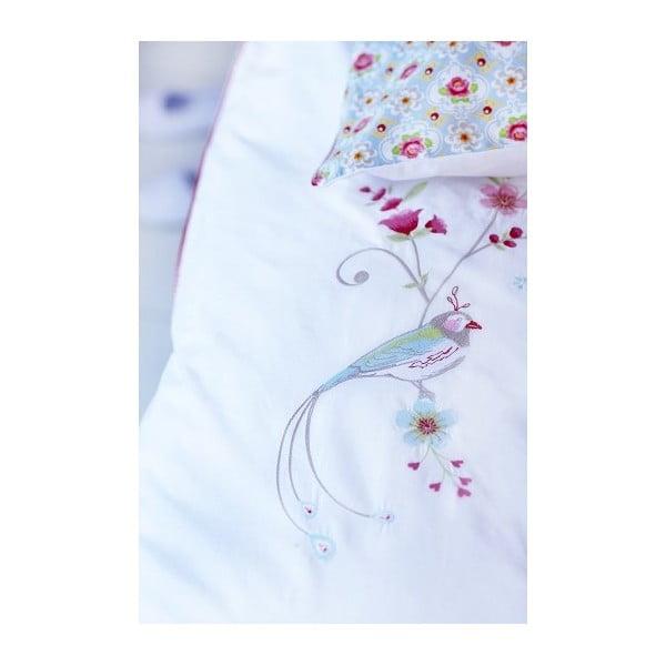 Povlečení Embroidery Bird Blue 140x220 cm, mírně poškozený obal