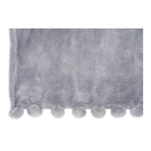 Pléd PomPom Grey, 127x152 cm