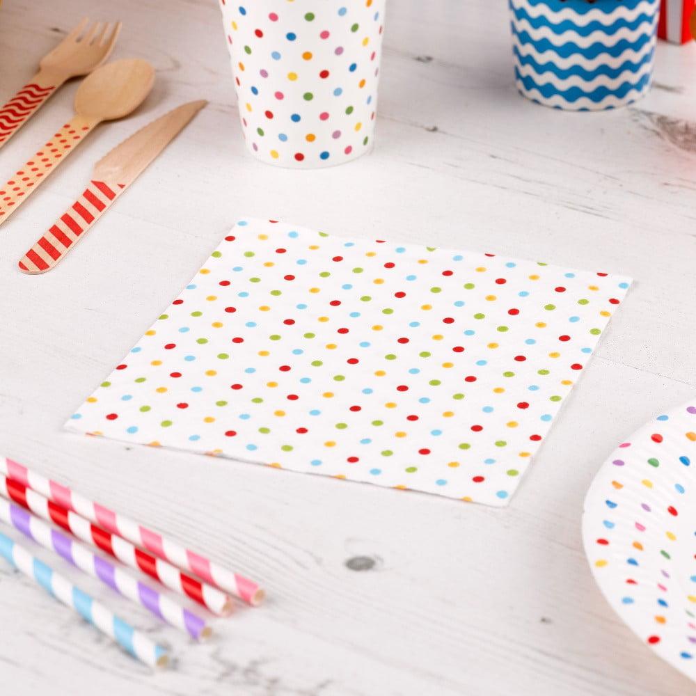 Sada 20 papírových ubrousků Neviti Carnival Dots