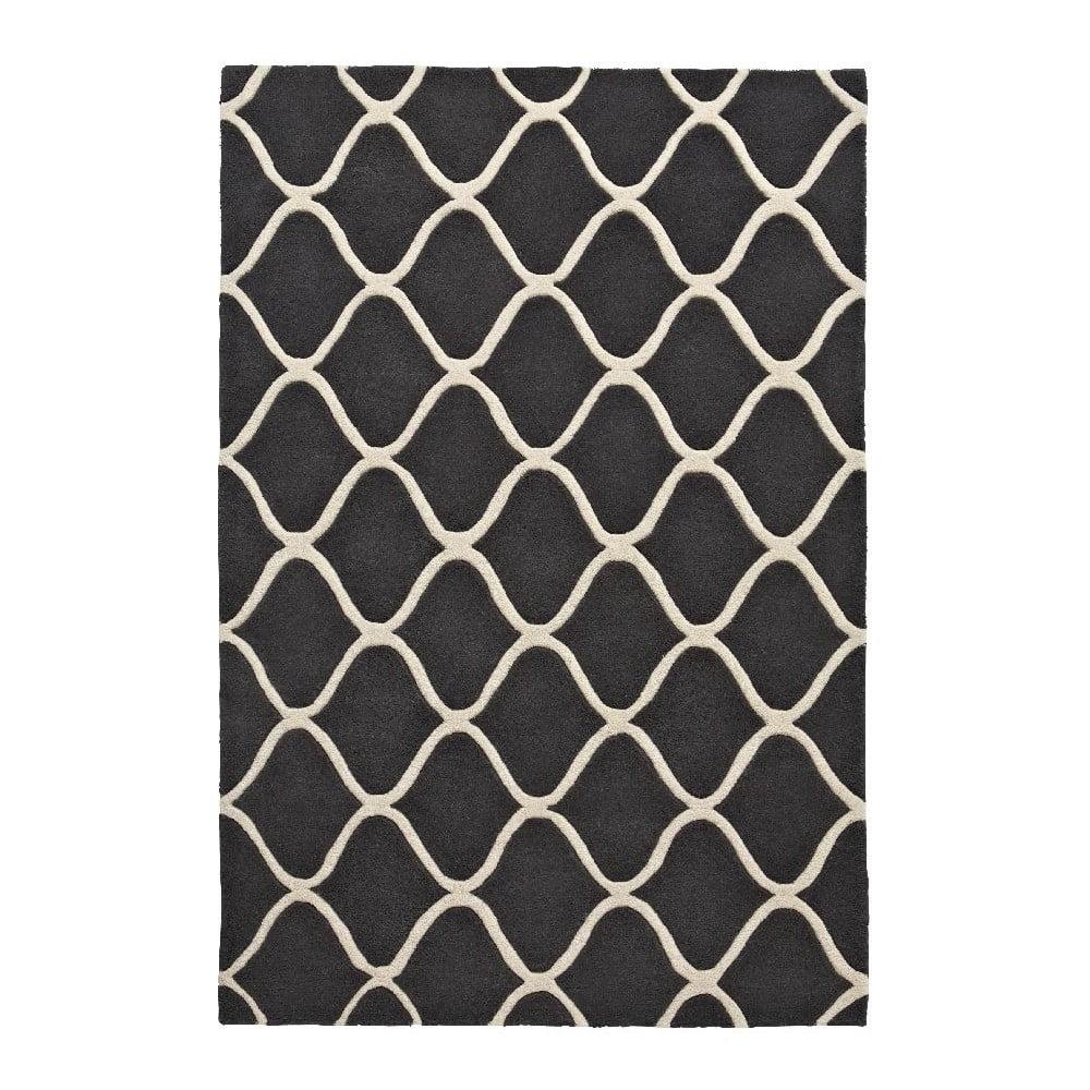 Šedý vlněný koberec Think Rugs Elements Grey, 120 x 170 cm