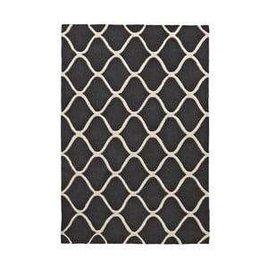 Šedý vlněný koberec Think Rugs Elements Grey, 120x170cm