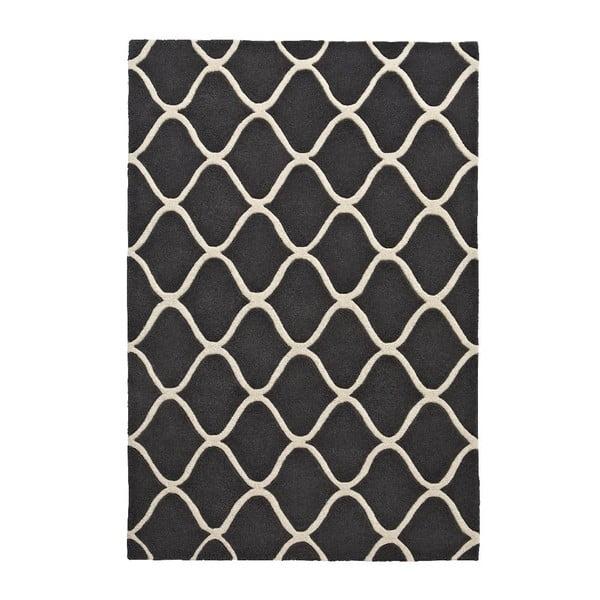 Šedý vlněný koberec Think Rugs Elements, 120 x170cm