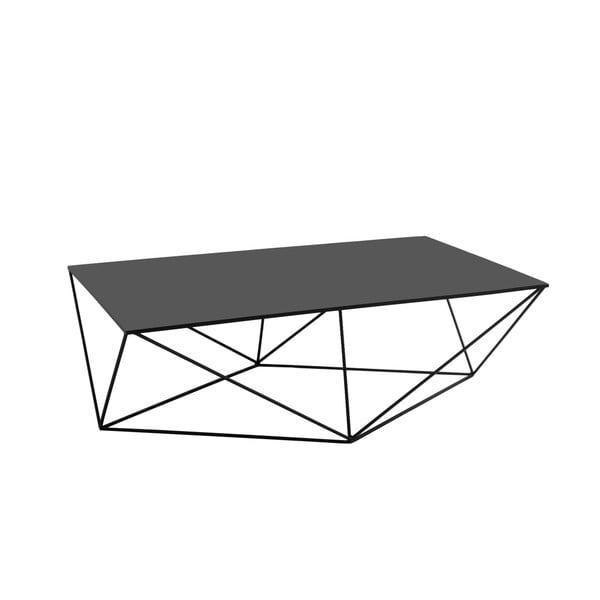 Daryl fekete dohányzóasztal, hosszúság 140 cm - Custom Form