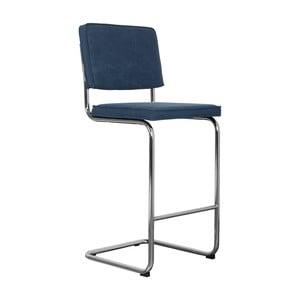Tmavě modrá barová židle Zuiver Ridge Rib