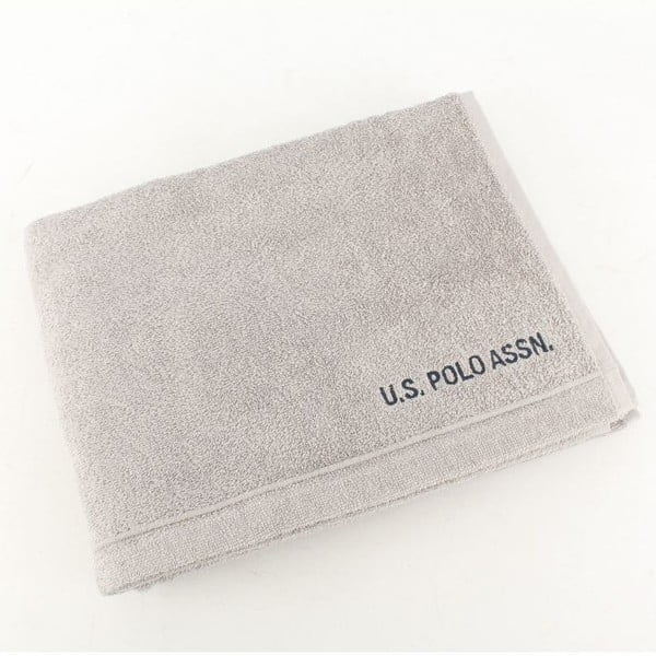 Osuška US Polo Bath Towel Grey, 70x140 cm