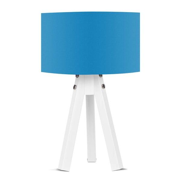 Stolní lampa s modrým stínítkem Kate Louise Bianca