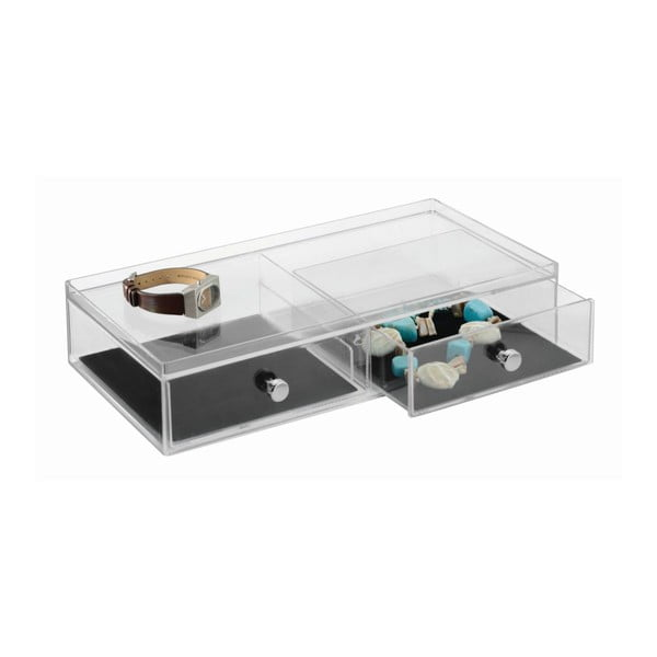 Organizator transparent cu 2 sertare iDesign Drawer