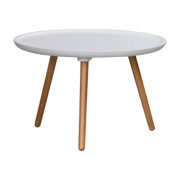 Biały stolik z drewna dębowego Rowico Dellingr, ⌀ 55cm