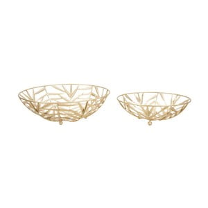 Sada 2 dekorativních misek ve zlaté barvě Mauro Ferretti Glam Couple