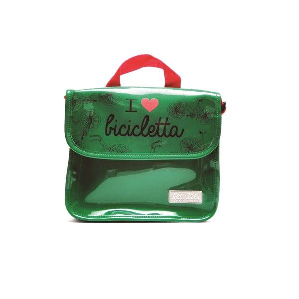 Taška na tablet I ♥ Bicicleta, zelená