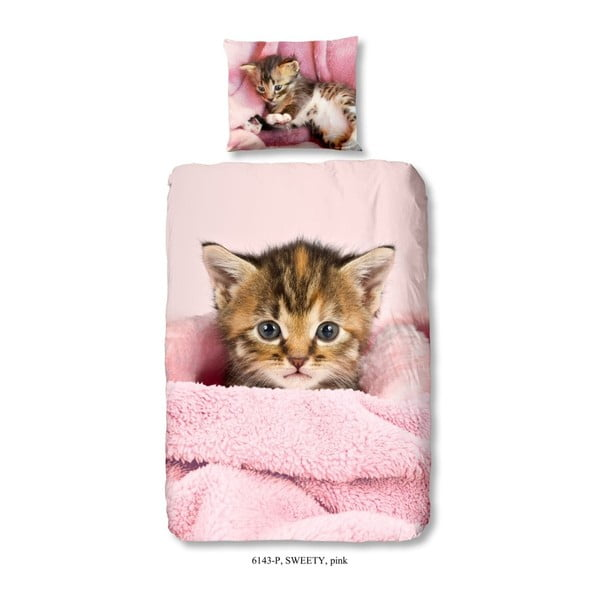 Pościel dziecięca z bawełny Muller Textiels Premento Sweety, 140x200 cm