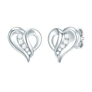 Dámské stříbrné náušnice CARAT 1934 Lovely Heart
