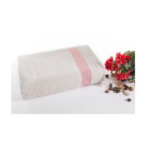 Růžovo-bílá bavlněná osuška Ladik Ella,70x140cm