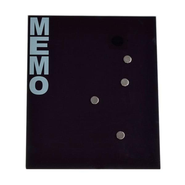 Skleněná magnetická nástěnka Ewax Black Board,35x42cm