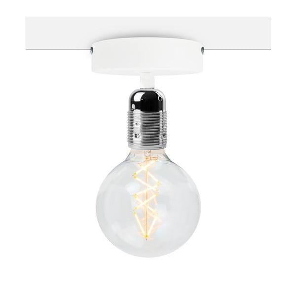 Bílé stropní svítidlo se stříbrnou objímkou Bulb Attack Uno Basic