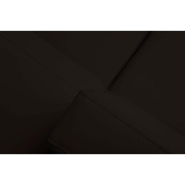 Tmavě hnědá rozkládací rohová pohovka Windsor & Co Sofas Gamma, levý roh