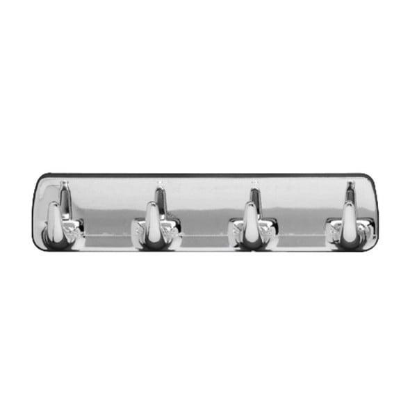 Cuier de perete cu 4 cârlige Wenko Hook Strip Chrome