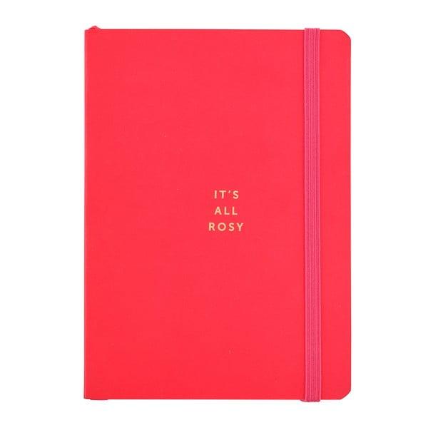 Červený zápisník o formátu A6 Busy B, 96 stran