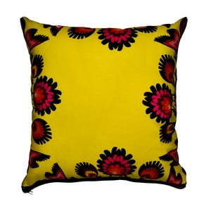 Polštář s náplní Flowers Yellow, 50x50 cm