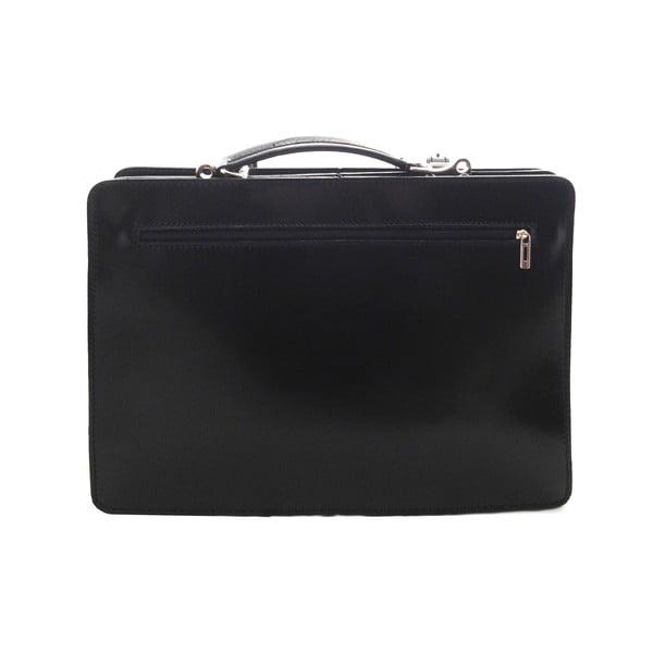 Kožená kabelka/kufřík Cortese, černá