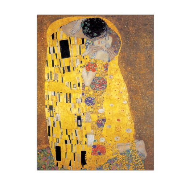 Obraz Klimt - Der Kuss, 50x70 cm
