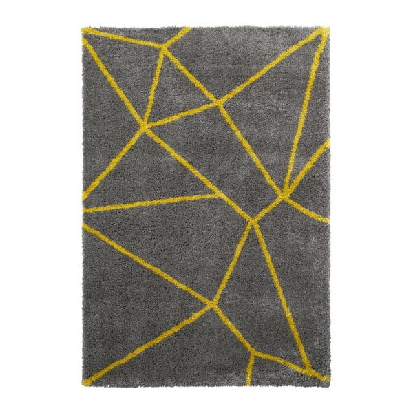 Sivo-žltý koberec Think Rugs Royal Nomadic Grey & Yellow, 160 × 230 cm