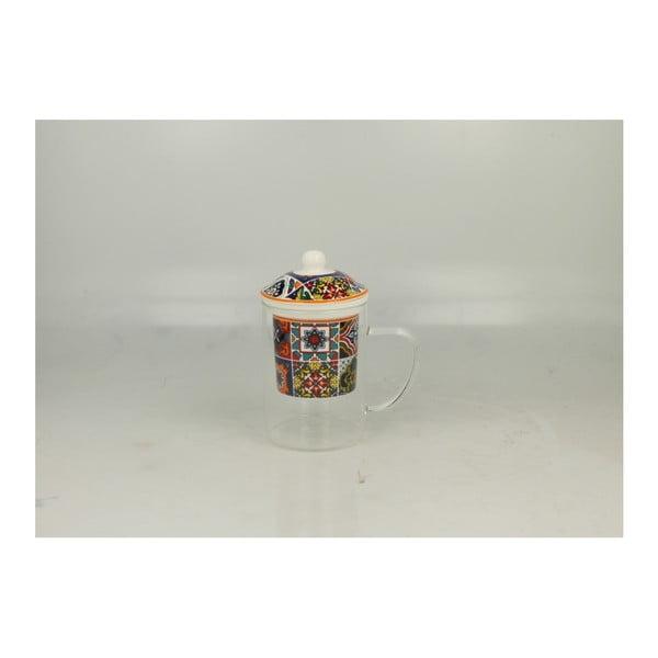 Hrnek s porcelánovým filtrem a pokličkou Duo Gift Rabat, 450 ml