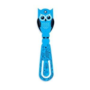 Modrá LED lampička kečtení Thinking gifts Flexilight Owl
