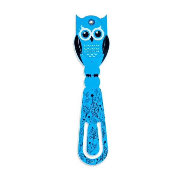 Niebieska lampka LED do czytania Thinking gifts Flexilight Owl