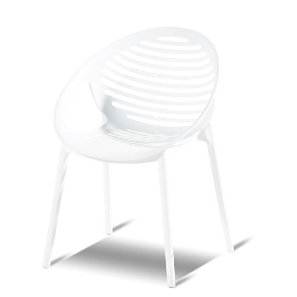 Biela stohovateľná záhradná stolička Hartman Romeo