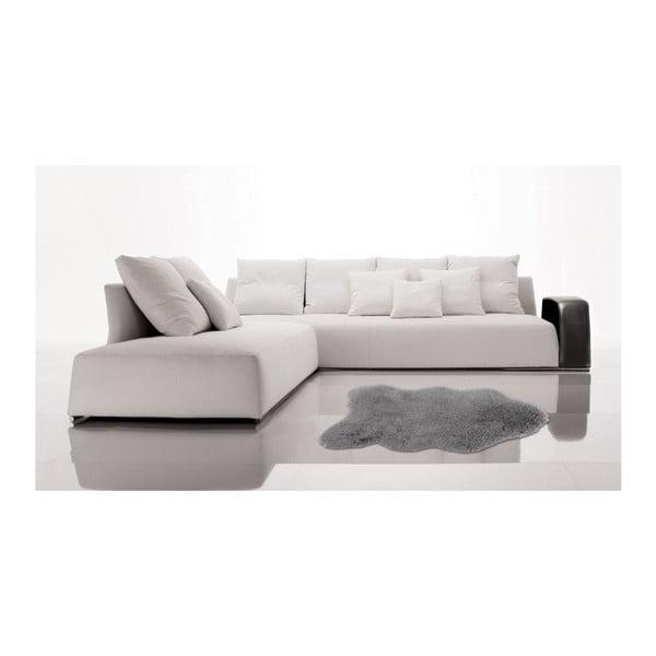 Šedý kožešinkový koberec Floorist Soft Bear, 90x140cm
