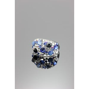 Prsten Ring Swarovski Elements Saphire, velikost M