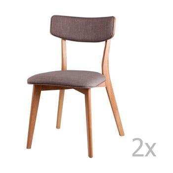 Set 2 scaune sømcasa Anais, gri deschis