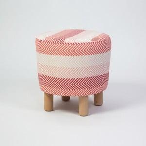 Taburet s dřevěnými nohami Cono Songe, ⌀41cm