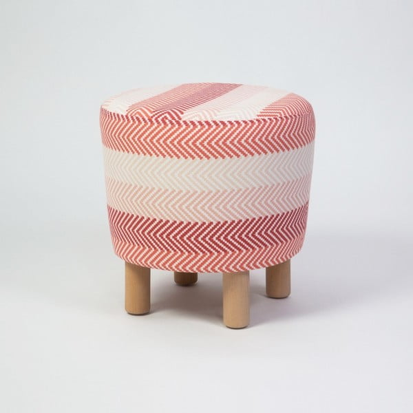 Taburet s drevenými nohami Cono Songe, ⌀ 41 cm