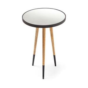 Černo-bílý odkládací stolek 360 Living Merald Schwarz Natural, ⌀ 40,5 cm