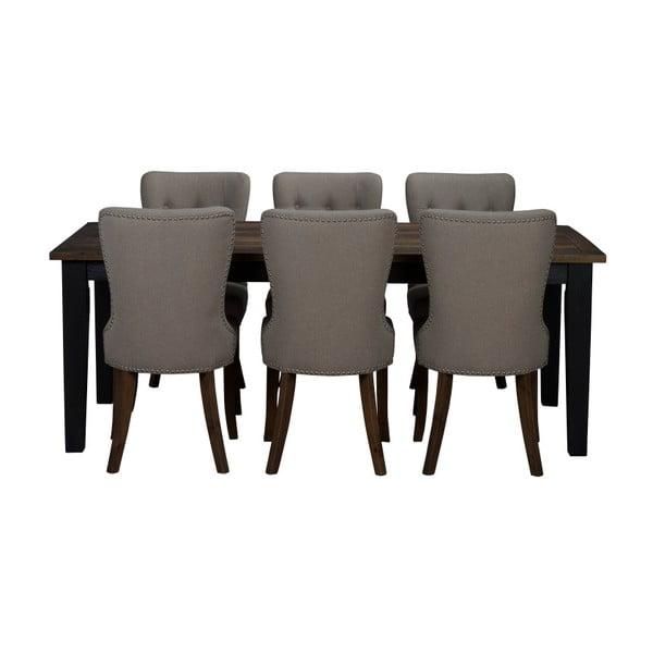 Tmavě šedý dřevěný jídelní stůl Folke Nottingham Park, délka 200 cm