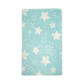 Covor antiderapant pentru copii Chilai Star,140 x190, albastru imagine