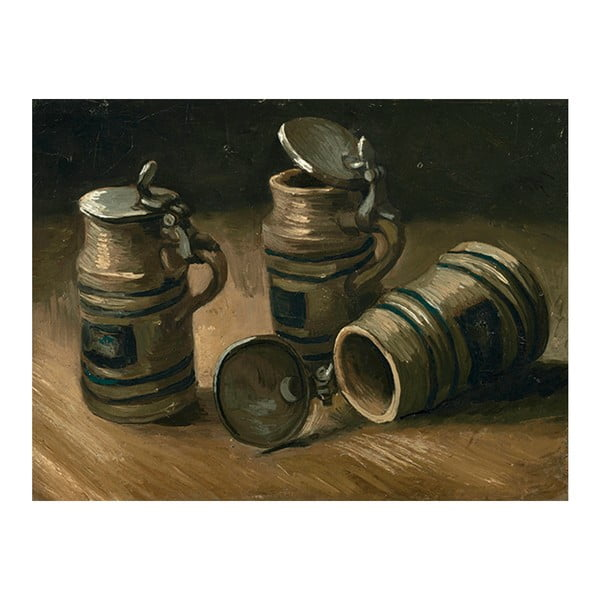 Obraz Vincenta van Gogha - Beer Tankards, 40x30 cm