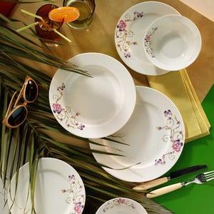 Porcelánový talířový set Flowers, 24 ks
