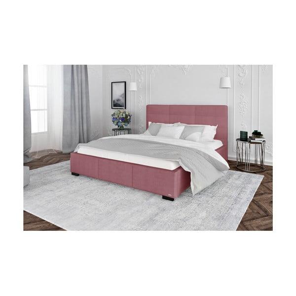 Růžová dvoulůžková postel s úložným prostorem Guy Laroche Home Poesy, 160x200cm