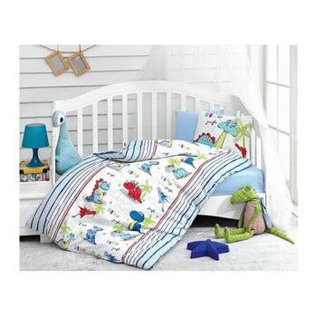 Lenjerie de pat cu cearșaf pentru copii Dino, 100 x 150 cm imagine