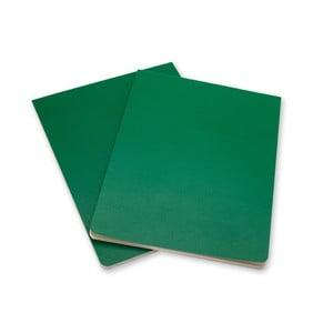 Sada 2 zelených bloků Moleskine Volant