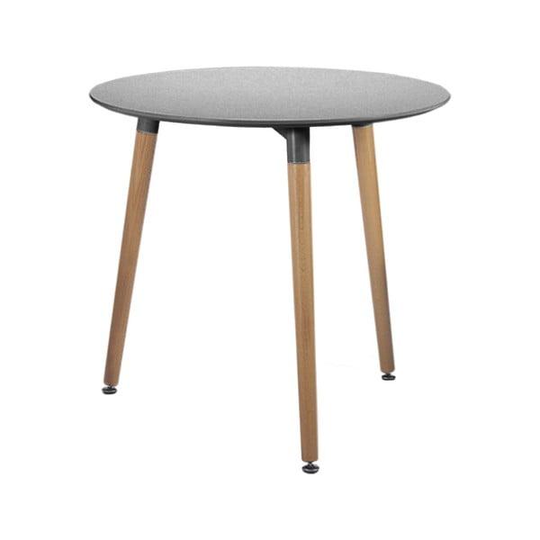 Elementary szürke étkezőasztal, ø80cm - Leitmotiv
